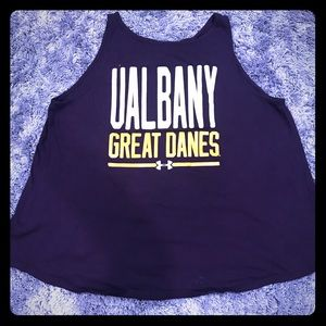 UAlbany Great Danes Open-Back Tank Top